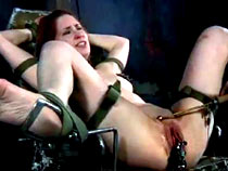 Redhead girl tortured