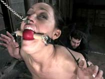 Girl gagged fucked with an..
