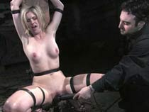 Tortured  in leather and..