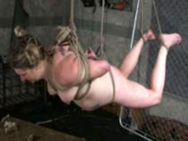 Hogtied slavegirl