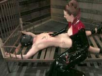 Latex Goddess humiliates