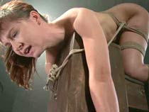 Redhead girl tormented