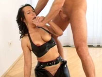 Hard viva voce latex sex