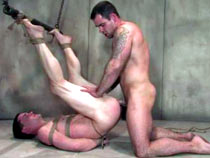 Gay bondage fucking in the cell