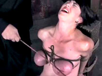 restrained and caned