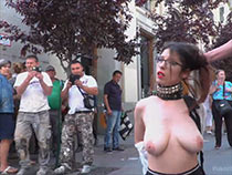 Flexible redhead is bound and stripped naked in public on Invoke occasion Disgrace mistiness