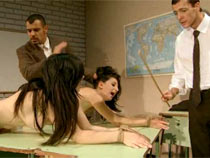 Two girls punished in the class
