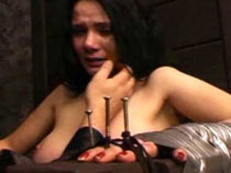 Сrying girl first time tortured