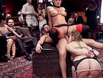 Humiliation almost rub-down..