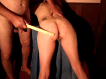 Amateur wax play and spanking