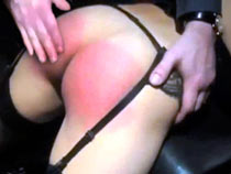 Classic spanking of ass