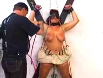 Mature woman tortured